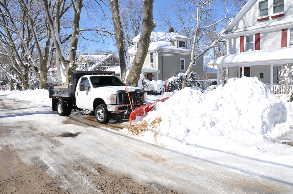 residential and commercial snow plowing